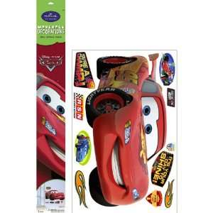 Lets Party By Hallmark Disney Cars Lightning McQueen Removable Wall