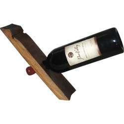 Wooden Single Wine Bottle Holder  Display Rack 845033092949