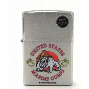 Zippo Lighter US Marine Corps, Brushed Chrome  Sports