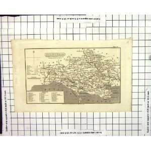 Antique Map 1824 Dorsetshire England Weymouth Studland Bay