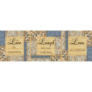 Live Laugh Love Wall Decor, 36x12 Decor
