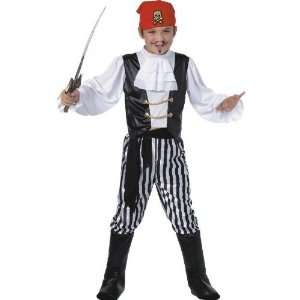Smiffys Deluxe Boys 5Pc Pirate Fancy Dress Costume 6 8