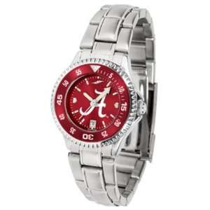 Alabama Crimson Tide Competitor AnoChrome Ladies Watch with Steel Band