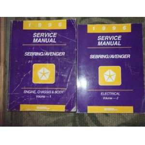 1996 Chrysler Sebring Shop Repair Service Manual Set (set volume 1 and