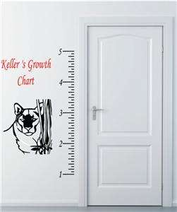 Growth Chart Personalized Child large Vinyl Wall Art