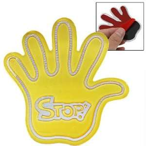 Amico Gold Tone Metal Stop Sign Palm Sticker Decal for Car