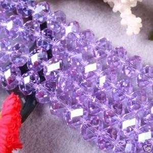 72pcs Purple Swarovski Crystal Gemstone Loose Beads 8x10mm