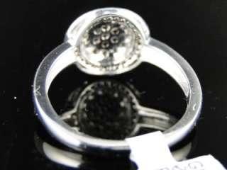 LADIES WOMENS WHITE GOLD CHOCOLATE BROWN ROUND CUT DIAMOND RING 1/3 CT