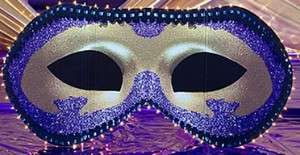 Mardi Gras Halloween Masquerade Mask Decoration Light