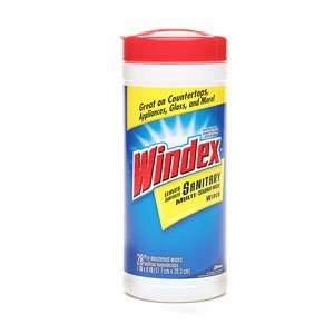 Windex Wipes, Multi surface, Sanitary, 28 Pre moistened Wipes (Case of