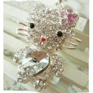 Kitty Crystal Necklace By Jersey Bling ships with FREE gift Jewelry