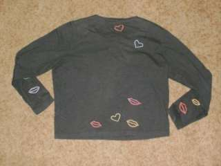Michael Simon Lite Hearts Kisses Lips Valentine Cardigan SZ P/P XS