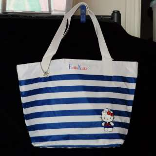 Hello Kitty Sailor Tote Bag Handbag Blue White