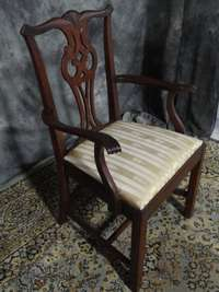 MAHOGANY HICKORY CHAIR CHIPPENDALE DINING ROOM CHAIRS 8 WOW
