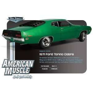 1971 Ford Torino Cobra Green 429 SCJ 1:18 ERTL Elite: Toys