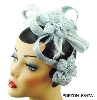 So Beautiful Feather Flower, Party Veil Fascinator