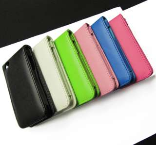 1PCS Wallet Leather Card Holder Flip Case Cover Pouch For iPod Touch 4