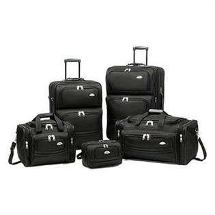 Samsonite 5 Piece Nested Luggage Set   Color Black