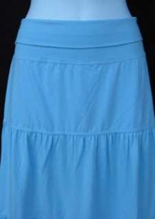 BRAND NEW Ann Taylor LOFT Blue Tiered Skirt Sz M P