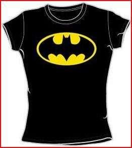 NEW Women Ladies Girls SIZE Batman Shield Classic Logo Emblem DC T
