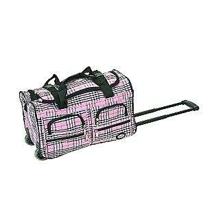 22 ROLLING DUFFLE BAG, PINK CROSS  Rockland Fox Luggage For the Home