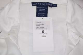 RALPH LAUREN LONG SLEEVE WHITE SHIRT WOMENS SMALL NWT