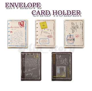 ENVELOPE Credit ID Business Card Holder Purse Case Travel theme