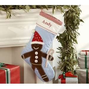 Pottery Barn Kids Quilted Gingerbread Man Stocking: Home