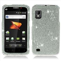 Pink Zebra Bling Hard Case Cover for Boost Mobile ZTE Warp N860