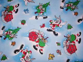 BUGS BUNNY SANTA Custom Nurse Scrub Top