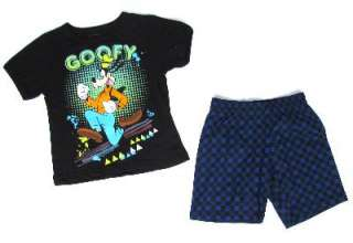 & Short Set Disney Mickey Mouse Goofy Loony Tunes Taz Outfit