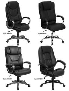 Office & Home Office High Back Leather Padded Arm Chair