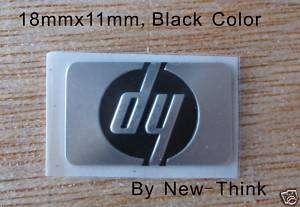 NEW GENUINE HP Logo Badge,Sticker,18mmx11mm,Black Color