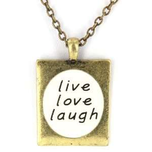 Pendant with live love laugh Message West Coast Jewelry Jewelry