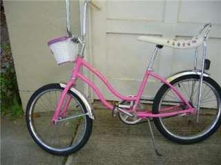 SCHWINN vintage banana seat bicycle  classic pink bike