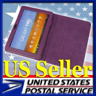 QCH Purple PU Leather Case Smart Cover for Samsung Galaxy Tab 8.9