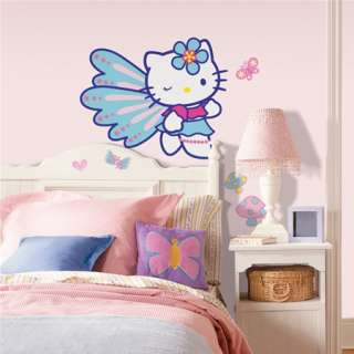 Hello Kitty Butterfly Giant Peel & Stick Wall Decal NEW