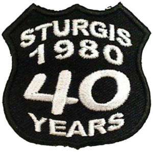 STURGIS BIKE WEEK Rally 1980 40 YEARS Biker Vest Patch