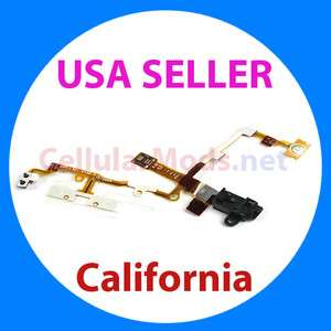 iPhone 3GS Earphone Audio Jack Power Volume Switch Flex Cable Ribbon