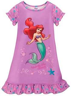 Disney Princess Ariel Little Mermaid Nightgown Pajamas Size 5/6