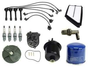 Honda Prelude 97 01 2.2L Ignition Tune Up Kit Filters Cap Rotor Spark