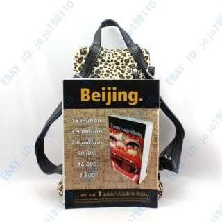 Womens Fashion Leopard Print Backpack Handbag Purse A145