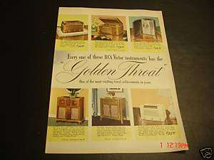 1946 RCA Victor Radios & Prices Lineup Ad
