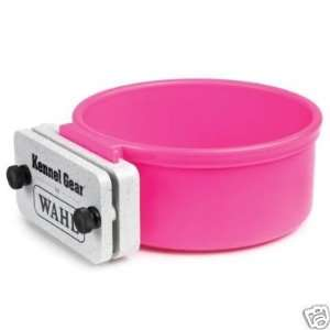 Kennel Gear Plastic Cage Dog Cat Bowl 1 Qt. PINK Kitchen