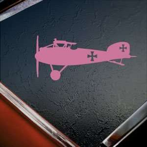 Albatros D3 WWI German Biplane Pink Decal Window Pink