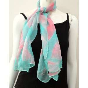 100% Chiffon Silk Hand Dyed 2 Toned Tie and Dye High Quality, Small