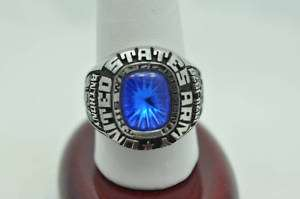 VINTAGE UNITED STATES ARMY STAINLESS STEEL RING
