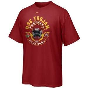Nike USC Trojans Cardinal 2009 Rose Bowl T shirt  Sports