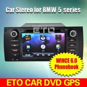 ETO Stereo for BMW X5 E53 M5 E39 Car DVD Player GPS Sat Nav Bluetooth