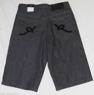 ROCAWEAR New Mens Gray/Black R Shorts Choose Size NWT